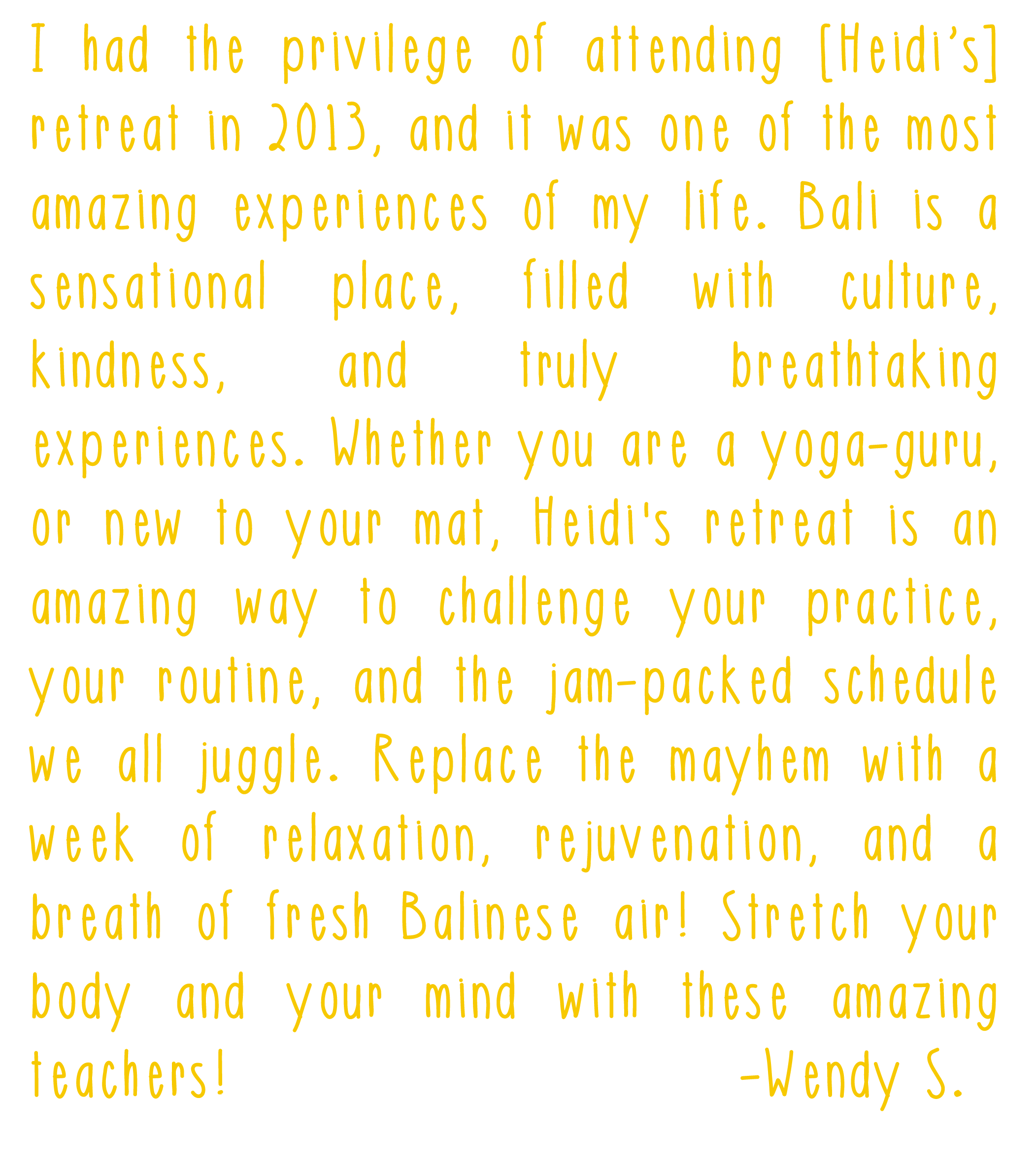 testimonial bali yoga retreat