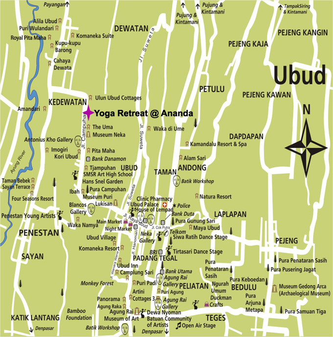 ubud Map Location