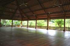 outdoor yoga space for yoga retreat in bali 2013