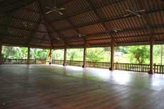 practicing yoga at retreat in bali