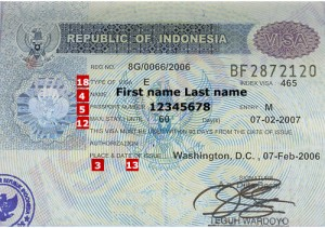 Visa in Indonesia