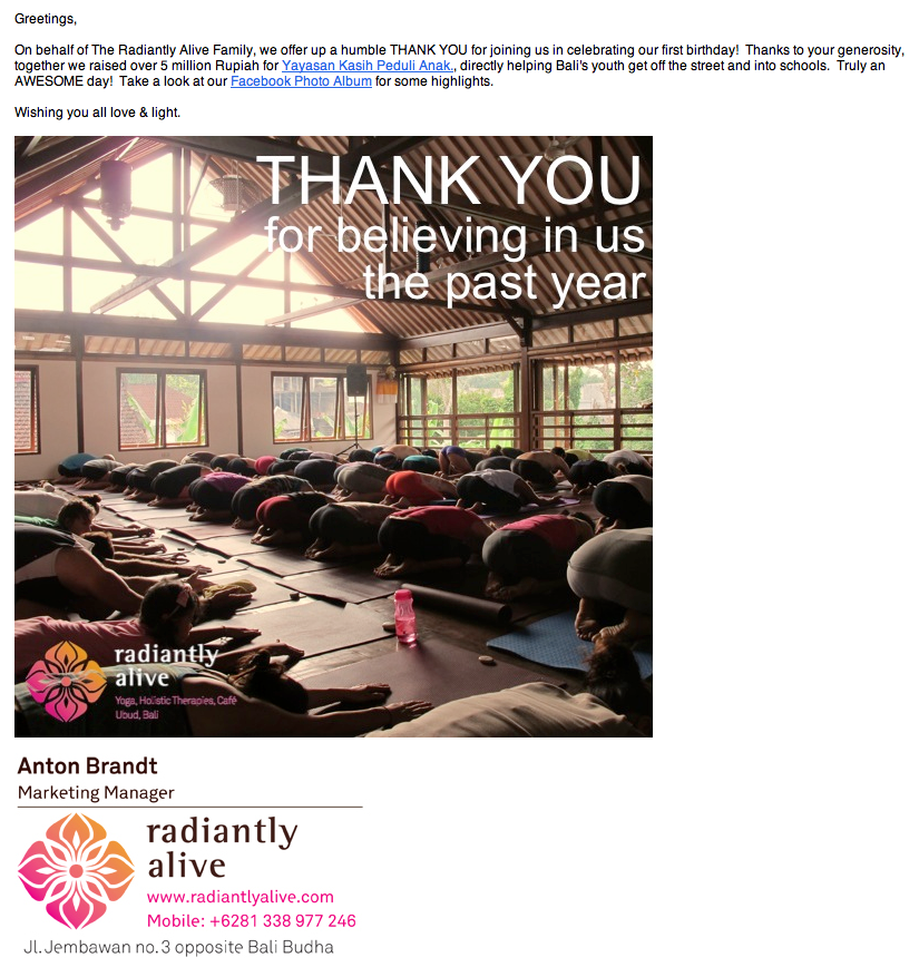 yogaretreats bali helps charities in Bali