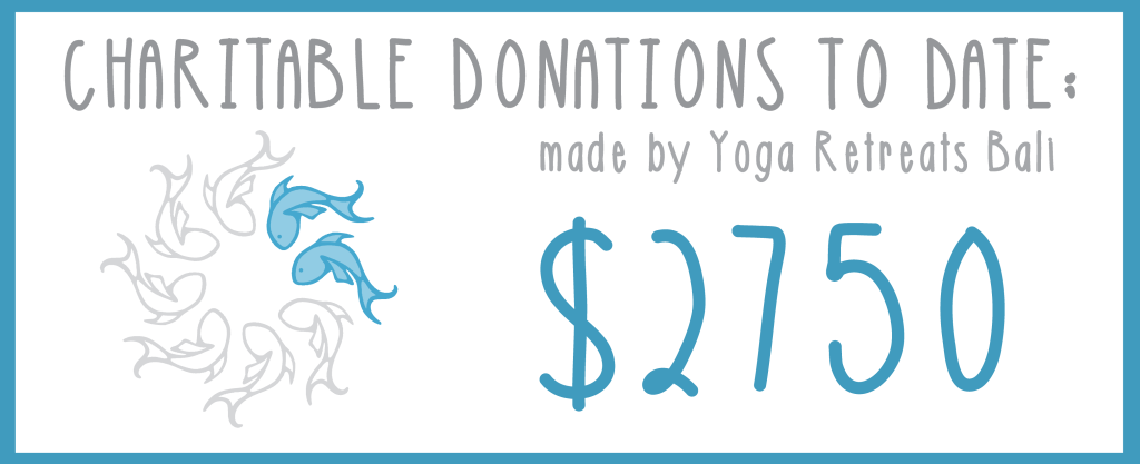 money raised by yoga retreats bali for charities