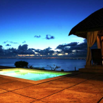 Illuminated Pool with a View