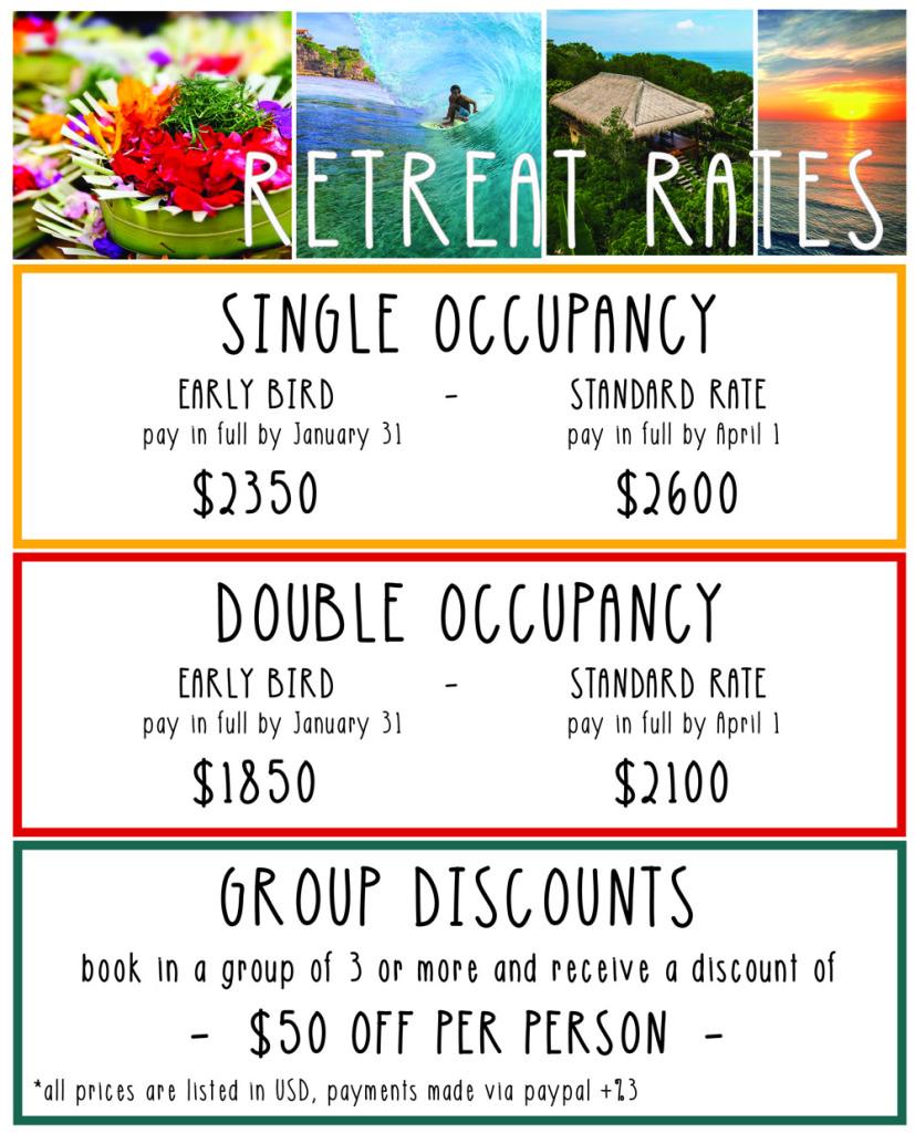 Retreat Pricing Uluwatu